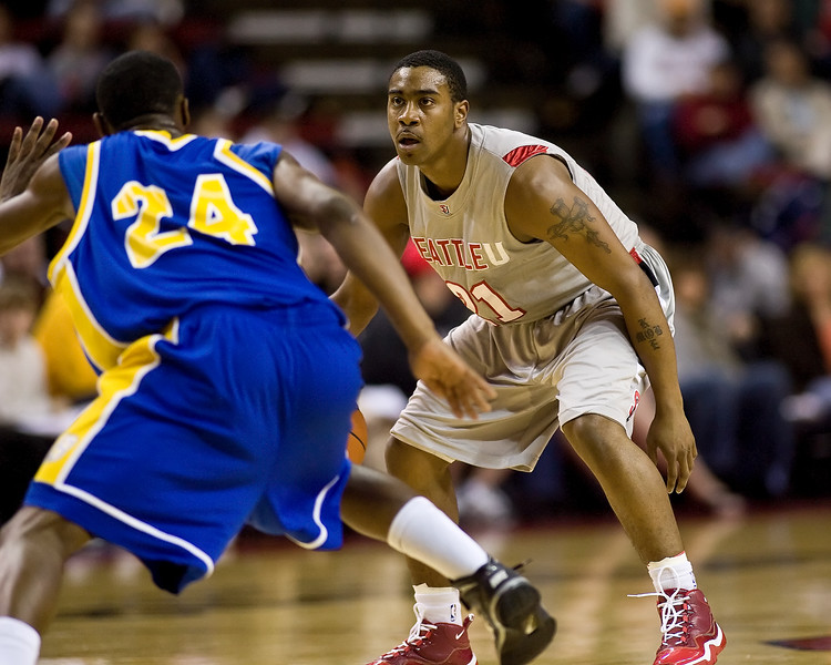 Men's Basketball Seattle University vs Cal State Bakersfield. Images are for personal use only. Under no circumstances are these photos approved for promoting commercial products or allowed to appear on commercial items. Per NCAA Division I Manual Section 12.5.2.2