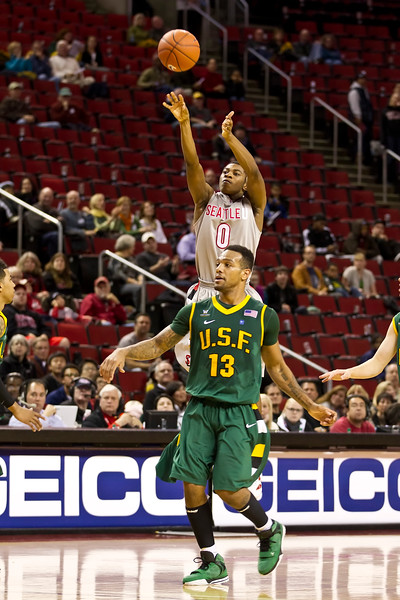 Men's Basketball Seattle University vs USF. Images are for personal use only. Under no circumstances are these photos approved for promoting commercial products or allowed to appear on commercial items. Per NCAA Division I Manual Section 12.5.2.2