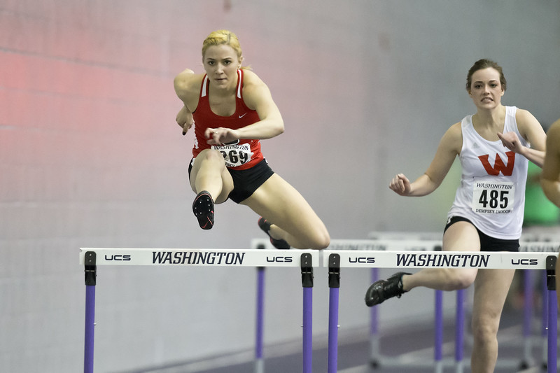 Seattle University Indoor Track. Images are for personal use only. Under no circumstances are these photos approved for promoting commercial products or allowed to appear on commercial items. Per NCAA Division I Manual Section 12.5.2.2