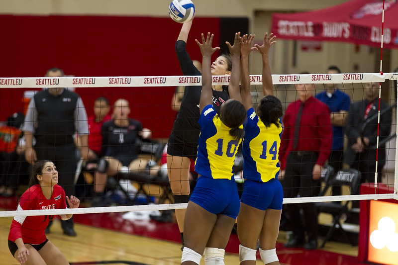 Seattle University Volleyball. Images are for personal use only. Under no circumstances are these photos approved for promoting commercial products or allowed to appear on commercial items. Per NCAA Division I Manual Section 12.5.2.2