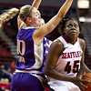 Women's Basketball Seattle University vs University of Washington. Images are for personal use only. Under no circumstances are these photos approved for promoting commercial products or allowed to appear on commercial items. Per NCAA Division I Manual Section 12.5.2.2