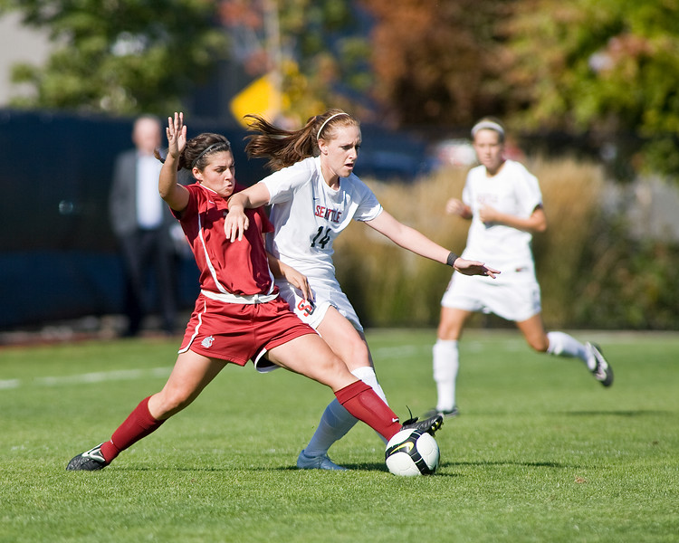 Women's Soccer Seattle University vs Washington State University. Images are for personal use only. Under no circumstances are these photos approved for promoting commercial products or allowed to appear on commercial items. Per NCAA Division I Manual Section 12.5.2.2