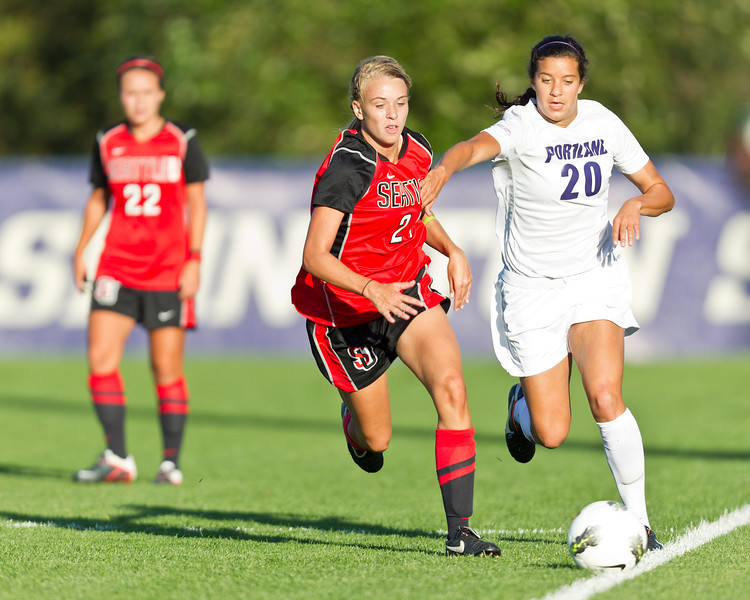 Women's Soccer Seattle University vs University of Portland. Images are for personal use only. Under no circumstances are these photos approved for promoting commercial products or allowed to appear on commercial items. Per NCAA Division I Manual Section 12.5.2.2