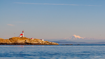 Lighthouse and Mt Baker