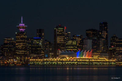 Canada Place Lit Up