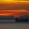 Sunset Ferry Crossing
