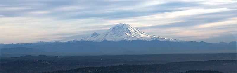 Mount Rainier from a float plane