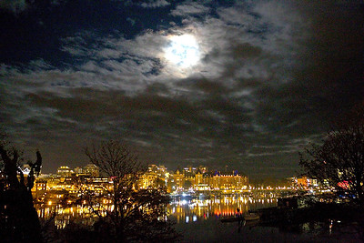 Victoria BC by Moonlight