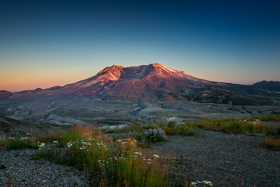Mt. St Helens at Sunset