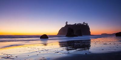 Ruby Beach at sunset (pano)