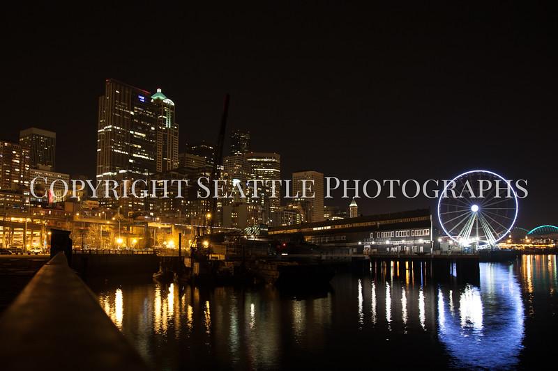 Seattle Waterfront Night 107