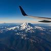 Mt Rainier Out the Plane Window