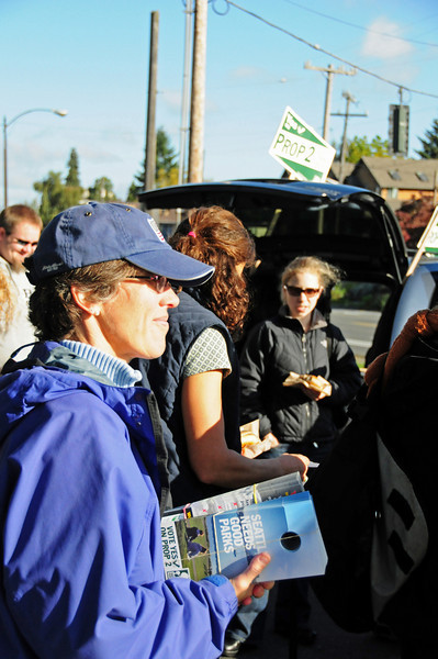 The north end literature drop on Saturday October 18.  There were also events in West Seattle and Capitol Hill.