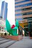 "The sculpture is ""Seattle Tulip,"" by artist Tom Wesselmann."