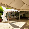 On May 20, 2009, the plaza was mostly covered with a tent and awning.  Can the public use this tent?  How much of the time is this tent and awning in the plaza?