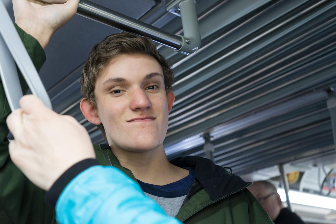 Henry on the Shuttle