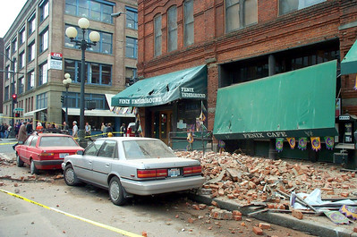 Post-earthquake damage.