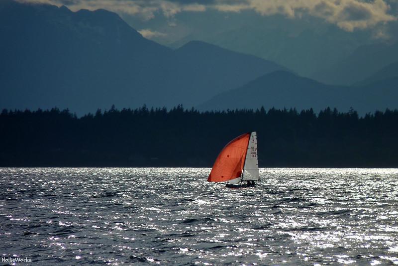 Sailing off Shilshole - Puget Sound open waters off Shilshole Marina