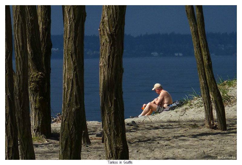 """Tanless in Seattle"" - Grabbing some rays 3 minutes before the next storm."