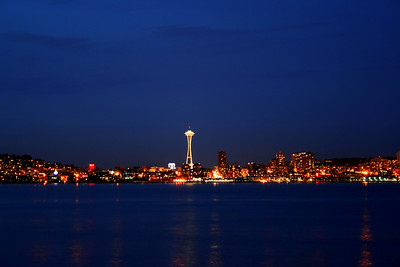 Another shot taken from West Seattle, after sundown.