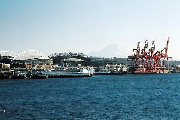 Qwest field, Safeco field, Mt. Rainier & the Port of Seattle