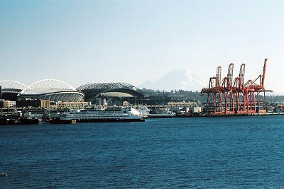 Qwest field, Safeco field, Mt. Rainier & the Port of Seattle