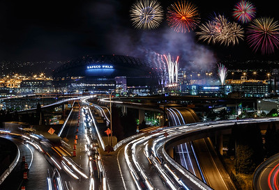 Firework Night at Safeco