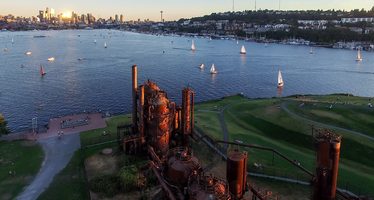 Gas Works from Above