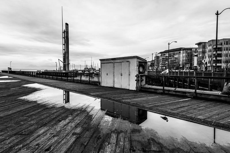 Seattle Reflection on Pier 62