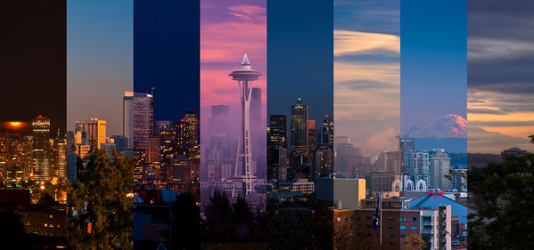 Seattle skyline Composite from Kerry Park