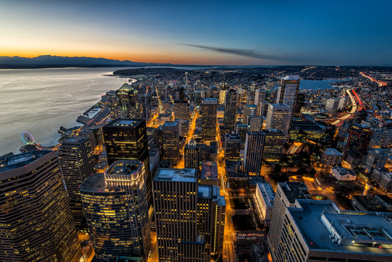 Downtown Seattle from the Columbia Center