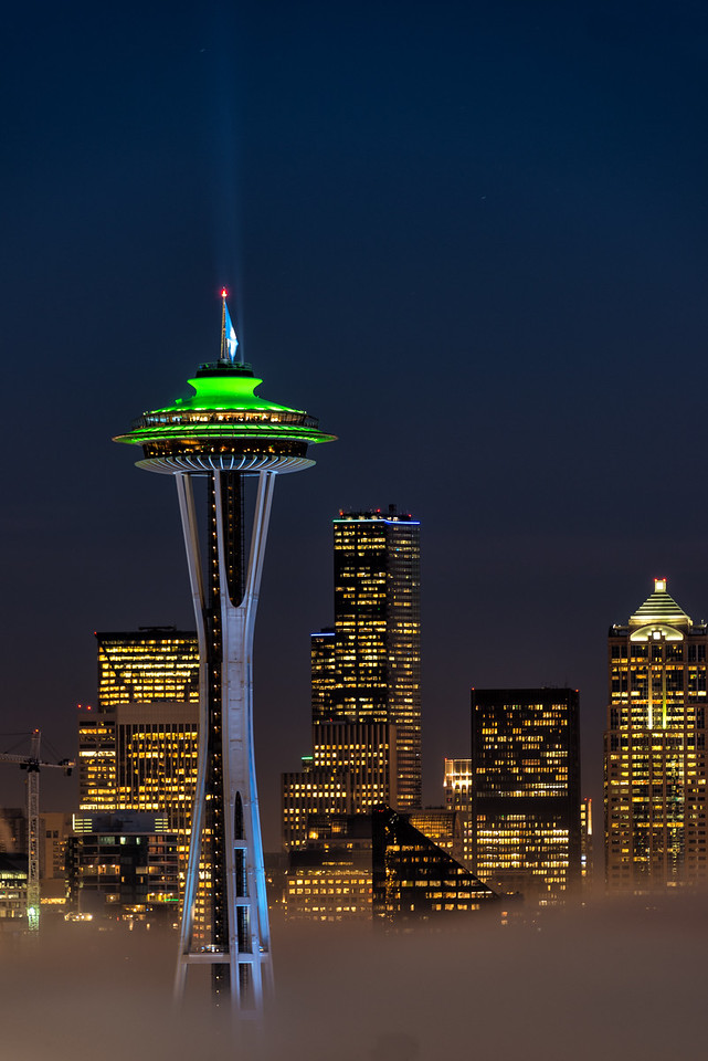 Space Needle and Seahawks