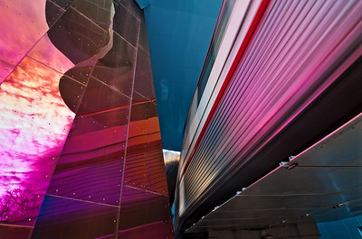 Experience Music Project, the Monorail runs right through the building
