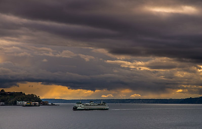 Storm clouds on the Puget Sound, Seattle
