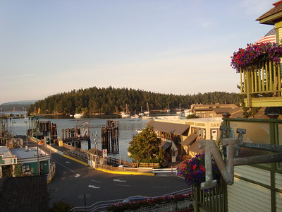 Ferry landing in Friday Harbor on San Juan Island