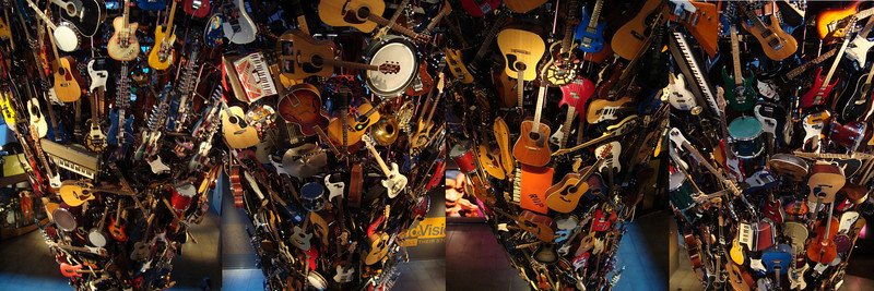 Guitar tower (4 shots composited) at Experience Music Project (EMP) in Seattle