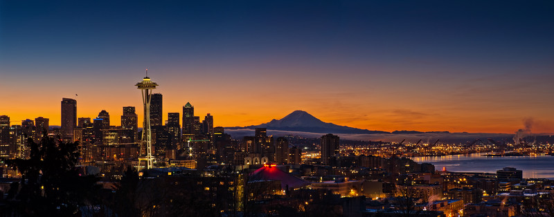 Seattle skyline Pano from Kerry Park