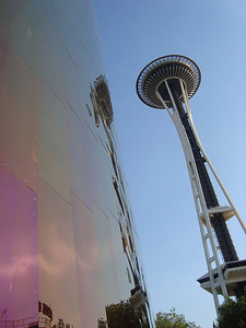 Space Needle and reflection in EMP