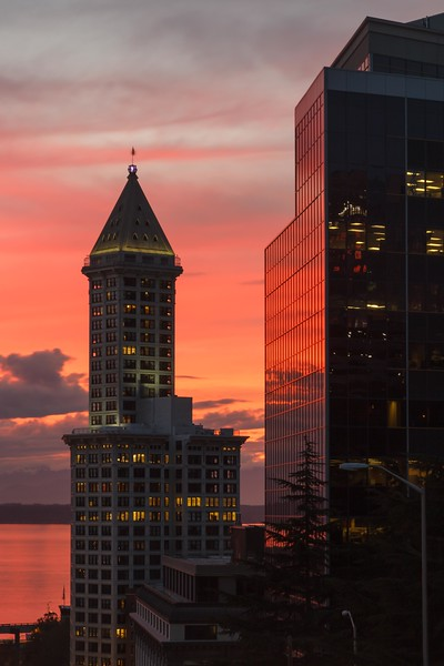 Smith Tower at Sunset