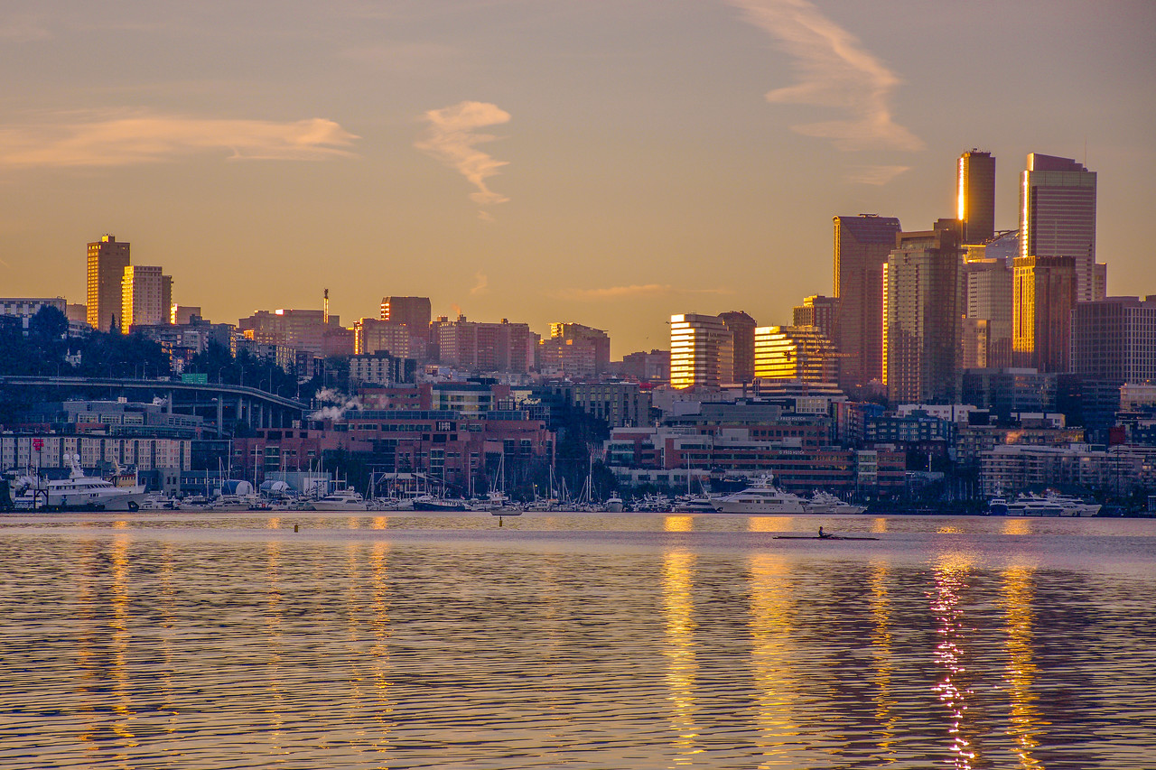 Golden Seattle Sunrise