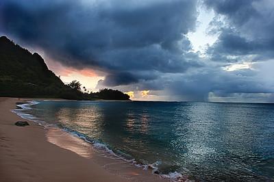 Tunnels Beach Sunset  Photographer's Name: Greg Rubstello