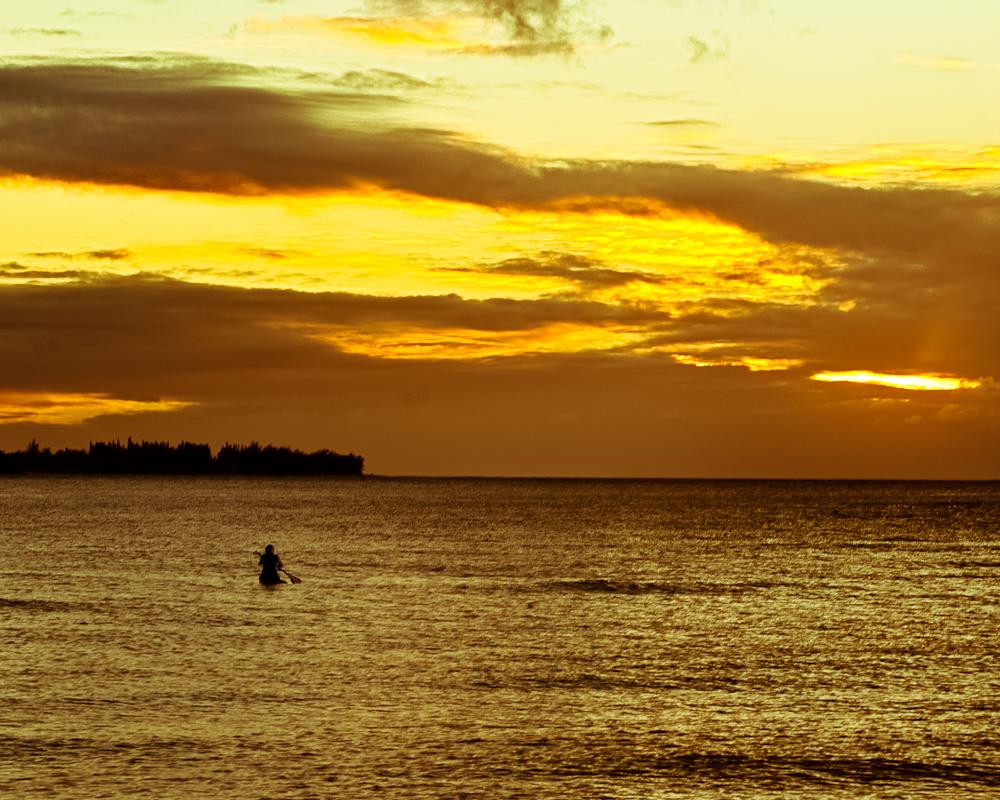 Sunset Paddle  Photographer's Name: Greg Rubstello