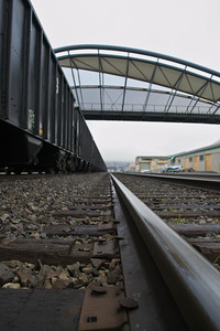 Coal cars, rails and the Amgen bridge  Photographer's Name: Greg Marsh