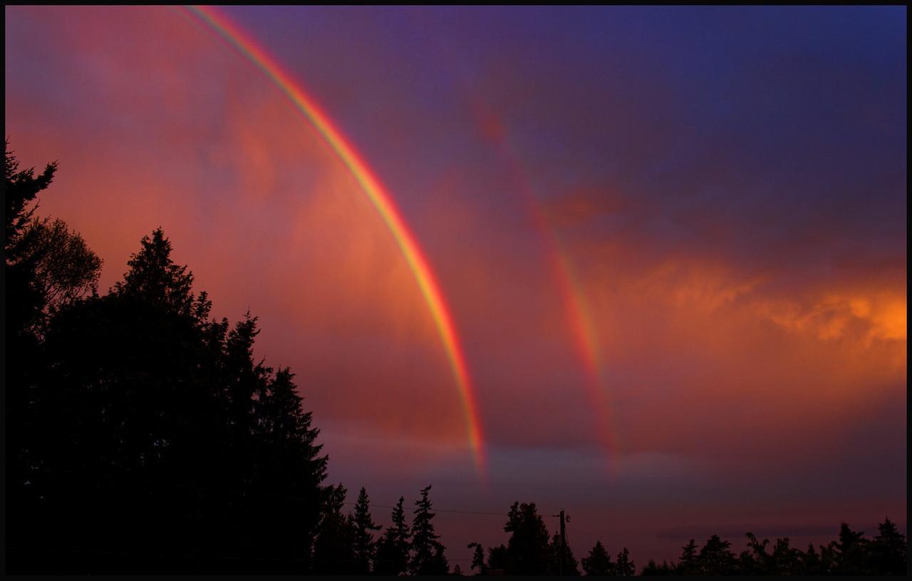 Double Rainbow  Photographer's Name: Mary Wang