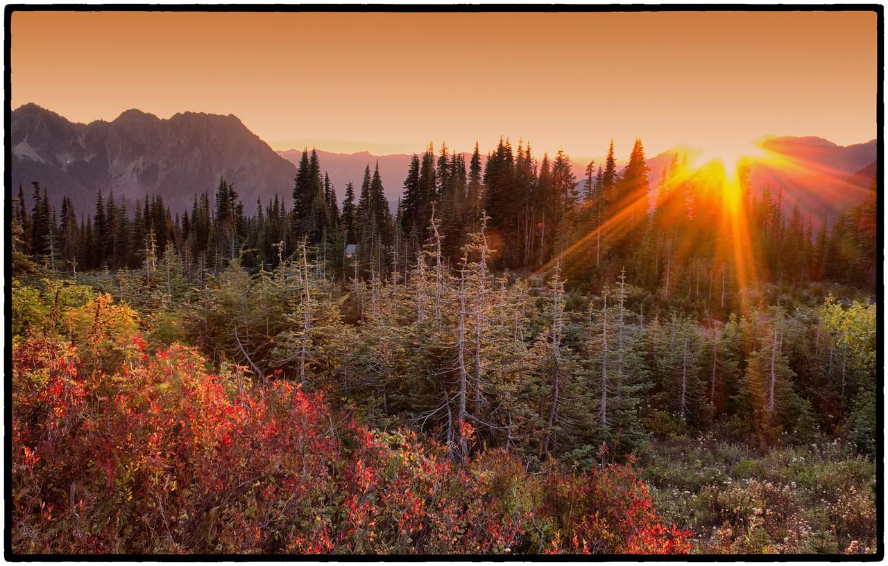 Mt Rainier Sunset  Photographer's Name: Mary Wang