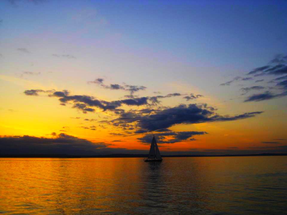 Sunset aboard sailboat at Alki...  Photographer's Name: Kaushal Mehta