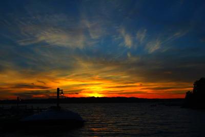 Sunset at Marina...  Photographer's Name: Kaushal Mehta