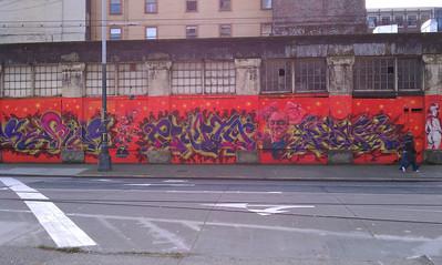 Graphiti in Seattle Pioneer Square Area.