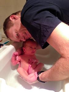 Sebastian's First Bath