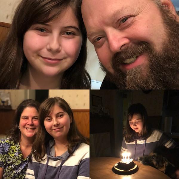 Jan 2018  Sarah's 14th bday